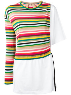 полосатая вязаная кофта-футболка Nº21