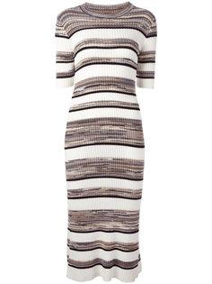 полосатое платье миди Joseph