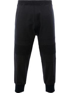 спортивные брюки с панелями в рубчик Neil Barrett