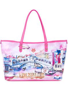 сумка-тоут  с принтом Venice Love Moschino