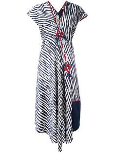 платье в полоску с вышивкой Antonio Marras