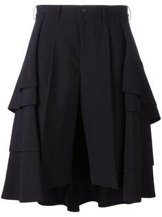 юбка-шорты с многоярусной отделкой Comme Des Garçons