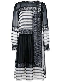 платье с контрастными панелями Alberta Ferretti