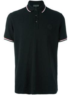 футболка-поло с вышитым логотипом Emporio Armani