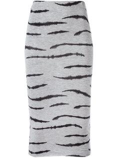 облегающая юбка с рисунком под зебру Zoe Karssen