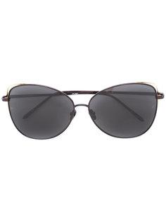 солнцезащитные очки с овальной оправой Linda Farrow