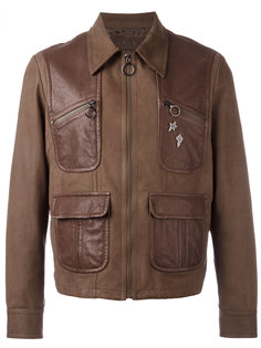 pins leather jacket Neil Barrett