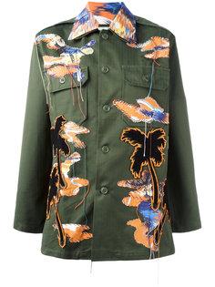 куртка в военном стиле с нашитыми птицами Night Market