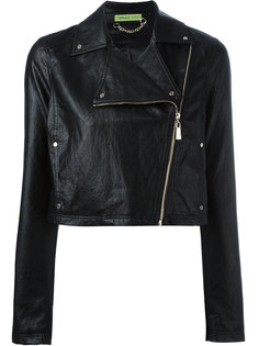 укороченная куртка на молнии Versace Jeans