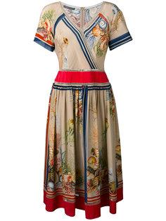платье с принтом ракушек Alberta Ferretti