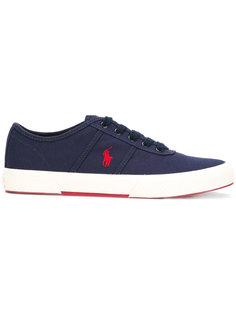 кеды на шнуровке с вышитым логотипом Polo Ralph Lauren