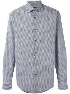 рубашка с мелким узором Salvatore Ferragamo