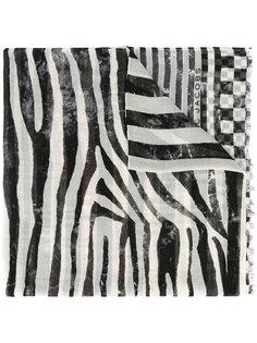 полосатый шарф с клетчатым узором Marc Jacobs