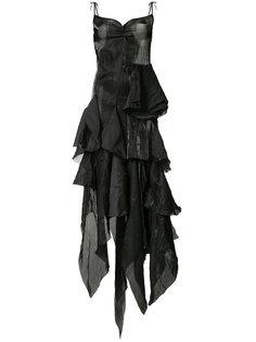 draped asymmetric midi dress Marquesalmeida