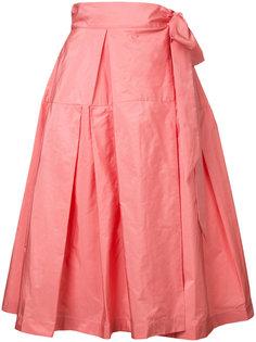 пышная юбка длины миди Jil Sander Navy
