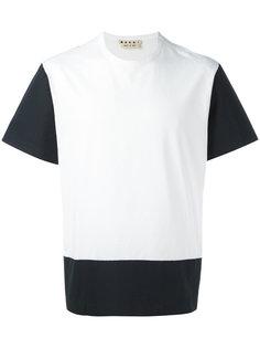 футболка дизайна колор-блок Marni