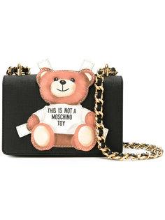 сумка с нашивкой плюшевого медведя Moschino