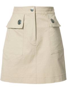 мини юбка с карманами Adam Lippes