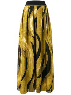 плиссированная юбка с принтом Alberta Ferretti