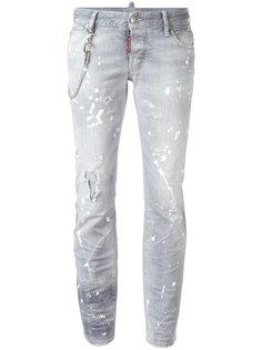 джинсы Flare с брызгами краски Dsquared2