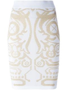 облегающая юбка с узором Versace Jeans