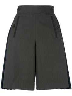 twill pleated shorts Sacai