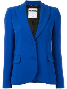 пиджак с заостренными лацканами Moschino