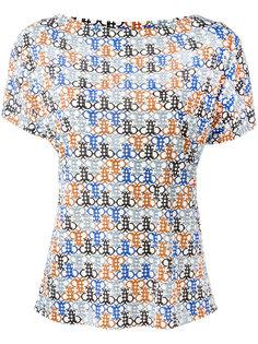 футболка с абстрактным узором Emilio Pucci