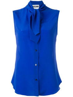 блузка без рукавов с завязками на горловине Moschino