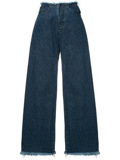 no waistband wide-legged jeans Marquesalmeida
