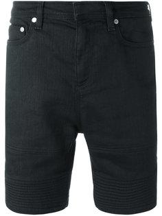 джинсовые шорты с отделкой в рубчик Neil Barrett