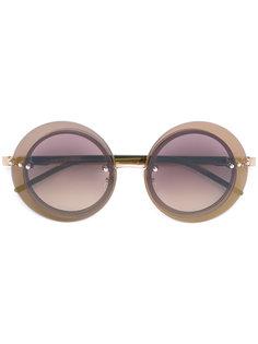 круглые солнцезащитные очки Loree Rodkin Sama Eyewear