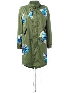 пальто в военном стиле с нашивками-цветами Night Market