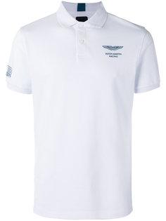 рубашка-поло с принтом на груди Hackett