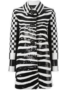 пальто с зебровым принтом Marc Jacobs
