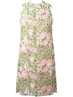 платье с цветочной аппликацией Giambattista Valli