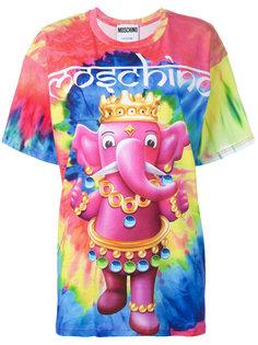 футболка с принтом слона в короне Moschino