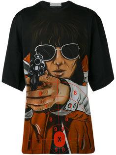 футболка с принтом стреляющего мужчины Christopher Kane