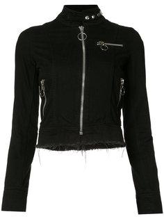 high neck cropped jacket Marquesalmeida