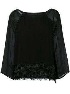 блузка с отделкой перьями Cavalli Class