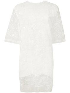 кружевная блузка-туника Adam Lippes