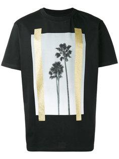футболка с принтом с пальмами Palm Angels