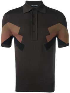 футболка-поло с панельным дизайном Neil Barrett
