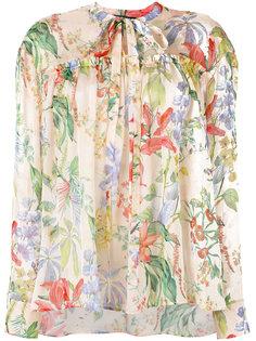 блузка с цветочным узором Rochas