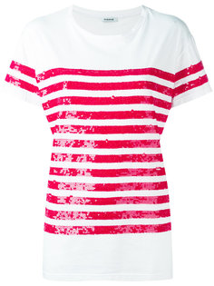 футболка с полосками из пайеток P.A.R.O.S.H.