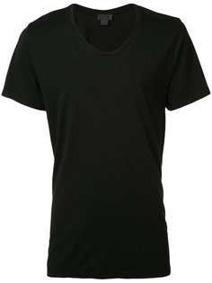 Slash scoop neck T-shirt En Noir