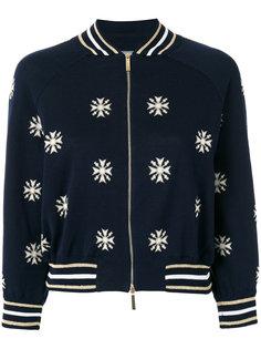 куртка-бомбер с принтом снежинок Alberta Ferretti