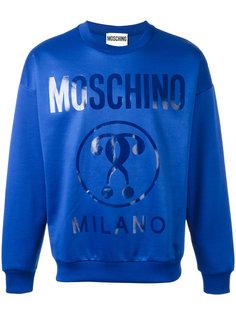 logo printed sweatshirt Moschino