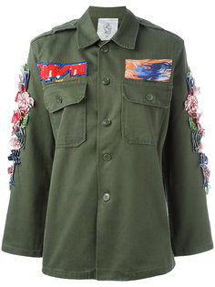 куртка в военном стиле 3D Hibiscus Night Market