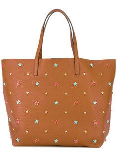 сумка-тоут с заклепками-звездами Red Valentino